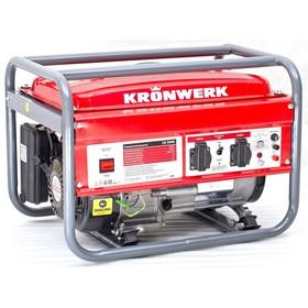 Генератор KRONWERK LK 3500, бензиновый, 2.8 кВт, 220 В, бак 15 л, ручной старт Ош