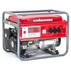 Генератор KRONWERK LK 6500, бензиновый, 5.5 кВт, 220 В, бак 25 л, ручной старт