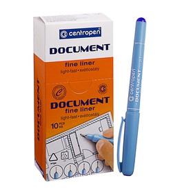 Ручка капиллярная, 0.1 мм, Centropen 'Document' 2631, длина письма 500 м, синяя, картонная упаковка Ош