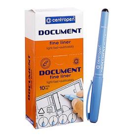 Ручка капиллярная Centropen 'Document' 2631, 0,5 мм, длина письма 500 м, черная Ош