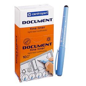 Ручка капиллярная Centropen 'Document' 2631, 0,7 мм, длина письма 500 м, черная Ош