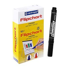 Маркер для флипчарта Centropen 8560 FLIPCHART, скошенный, 6.0 мм, чёрный