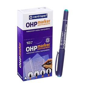 Маркер Centropen 2637 для OHP, перманентный, 1.0 мм, зелёный