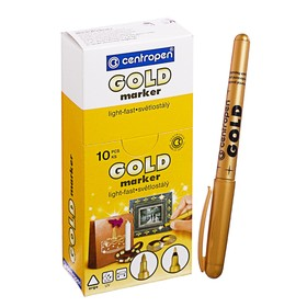 Маркер перманентный Centropen 2690, для декора, 3.0 мм, золотой Ош