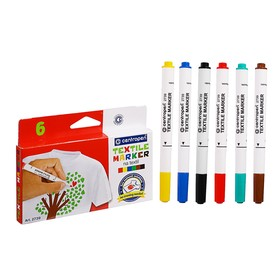 Маркер для ткани Centropen 2739, 1.8 мм, набор 6 цветов Ош
