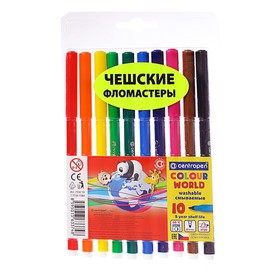 Фломастеры 10 цветов, Centropen 7550/10 ТП Colour World, линия 1.0 мм