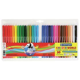 Фломастеры 30 цветов, Centropen Colour World 7550/30 ТП, в блистере, линия 1.0 мм