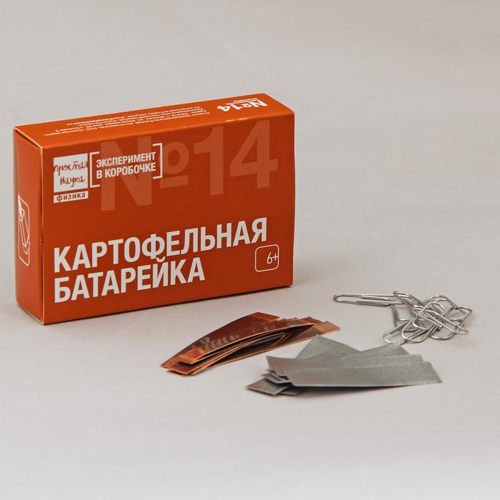 """Набор для опытов """"Набор №14 - Картофельная батарейка"""" 0314"""