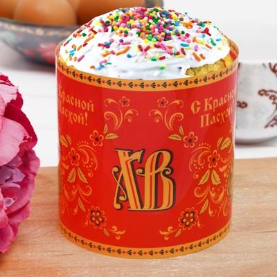 Пасхальный ободок для кулича «С Красной Пасхой!» (хохлома), 32.2 × 9 см