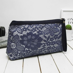 Косметичка-сумочка, отдел на молнии, с ручкой, цвет синий Ош