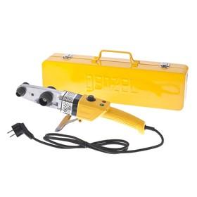 Аппарат для сварки пластиковых труб Denzel DWP-800, Х-PRO, 800 Вт, 300 °С, комплект насадок, 20-32 мм Ош