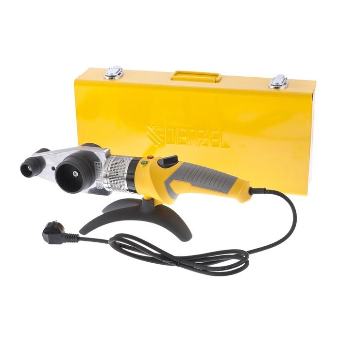 Аппарат для сварки пластиковых труб Denzel DWP-2000, Х-PRO, 2 кВт, 300 °С, комплект насадок, 20-63 мм