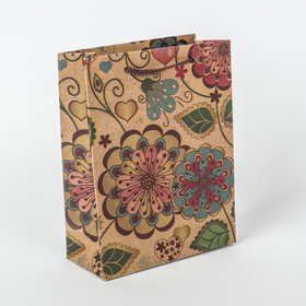 Пакет крафт 'Цветение', 11 х 5,5 х 14,5 см Ош