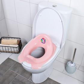 Сиденье детское на унитаз «Мишка» антискользящая, цвет розовый Ош