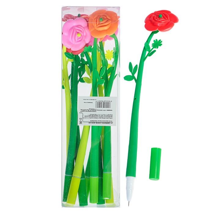 Ручка шариковая-прикол, Цветок-Роза, МИКС