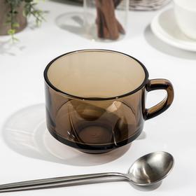 Кружка для супа «Bronze» 600 мл, d=12 см, цвет дымчатый Ош