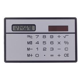 Калькулятор плоский, 8-разрядный, серебристый корпус Ош