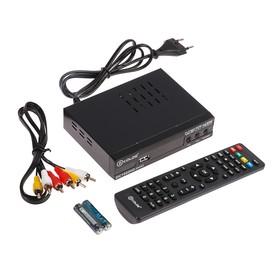 Приставка для цифрового ТВ D-COLOR DC1002HDmini, FullHD, DVB-T2, дисплей,HDMI,RCA,USB,черная Ош
