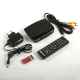 Приставка для цифрового ТВ D-COLOR DC702HD, FullHD, DVB-T2, HDMI, RCA, USB, черная Ош
