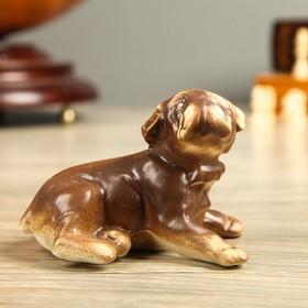 Статуэтка 'Собака Бульдог', под шамот, 9 см Ош