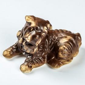 Статуэтка 'Собака Шарпей', под шамот, 8 см Ош