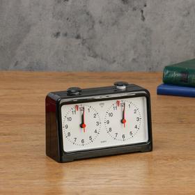 Часы для шахмат двойные, чёрные, 18х12 см Ош