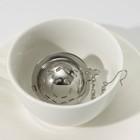Ситечко для чая Доляна «Ёлочка», 4,5 см, на цепочке - Фото 1