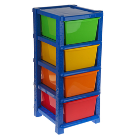 Комод детский №14, 4 секции, цвет синий Ош