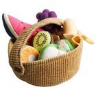 Мягкая игрушка «Фруктовая корзина», 9 предметов