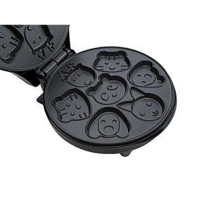 Вафельница электрическая Kitfort KT-1619, 640 Вт, фигурные вафли, серебристая