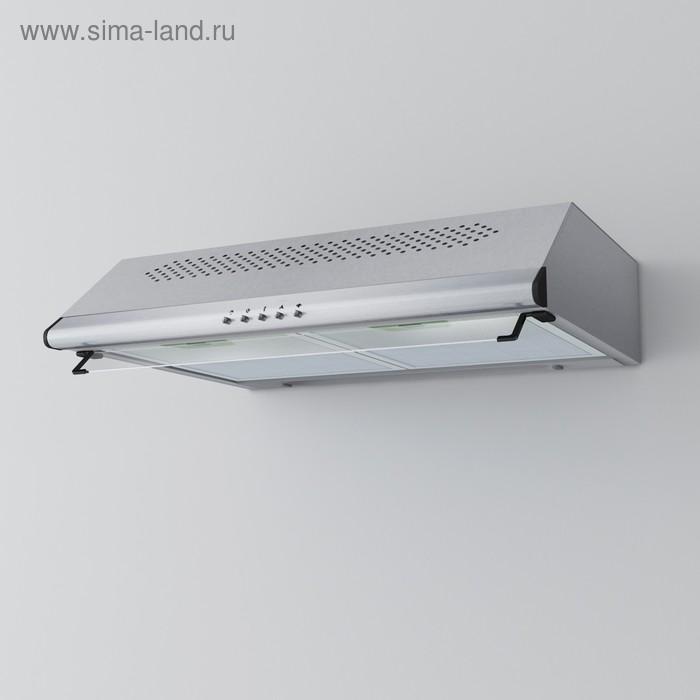 Вытяжка Lex Simple 600 Inox, плоская, 500 м3/ч, 3 скорости, 60 см, серебристая