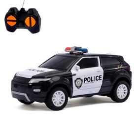 Машина радиоуправляемая «Полицейский джип», МИКС, работает от батареек