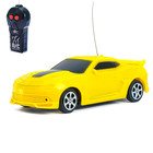 Машина радиоуправляемая «Мустанг», работает от батареек, цвет жёлтый