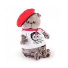 """Мягкая игрушка """"Басик"""" в футболке с принтом """"Плюшевая революция"""", 19 см"""