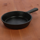 Сковорода порционная 14,5 см, с чугунной ручкой - Фото 1