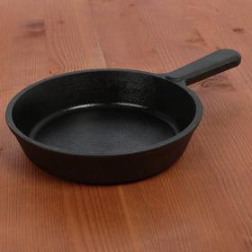 Сковорода порционная с чугунной ручкой, d=14,5 см