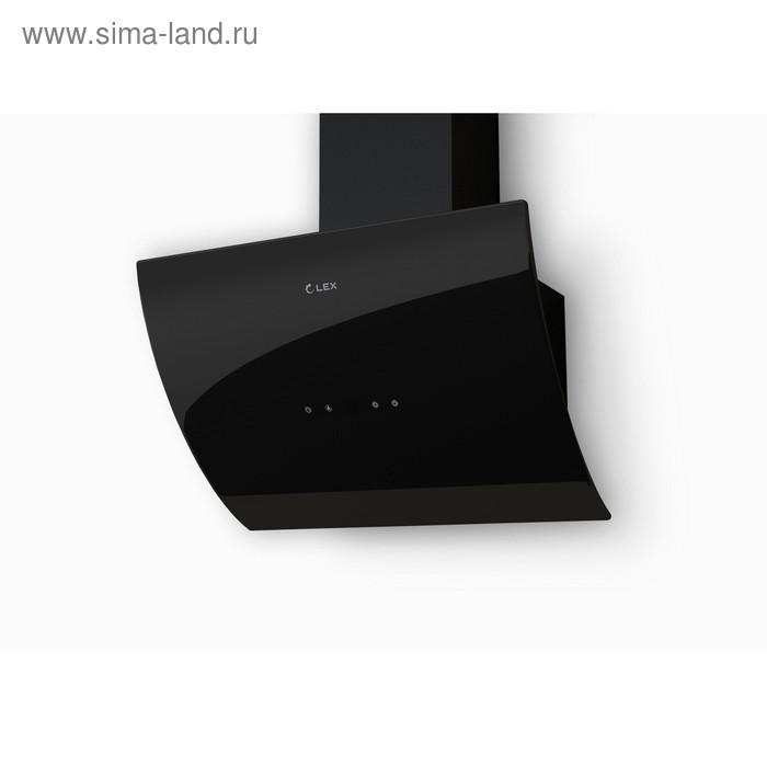 Вытяжка Lex Plaza 600 Black, наклонная, 1100 м3/ч, 3 скорости, 60 см, чёрная
