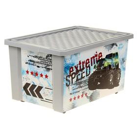 Ящик для хранения игрушек «Супер Трак», 57 л, на колёсах