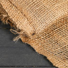 Джут натуральный, 1,1 × 10 м, плотность 215 г/м², плетение 34/32 Ош