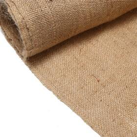 Джут натуральный, 1,1 × 5 м, плотность 260 г/м², плетение 46/40 Ош