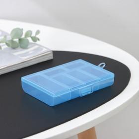 Бокс для хранения, 6 отделений, 12×8,5×2,5, цвет МИКС Ош