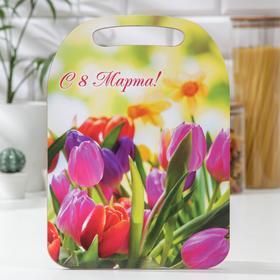 Доска разделочная Avanti-stile «С 8 Марта! Тюльпаны», 29×21 см