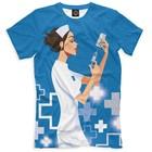Футболка мужская «Медсестра», размер S