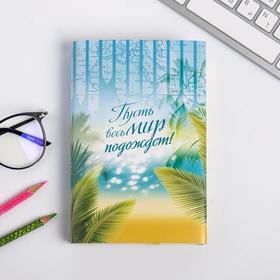 Обложка для книг «Пусть весь мир подождёт», 17×33 см Ош