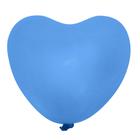 """Шар латексный 36"""" """"Сердце"""", 1 шт., цвет синий"""