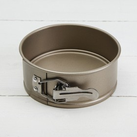 Форма для выпечки разъёмная «Рэнди. Круг», 12×7,5 см, антипригарное покрытие, цвет бронзовый
