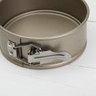 Форма для выпечки разъёмная «Рэнди. Круг», 12×7,5 см, антипригарное покрытие, цвет бронзовый - Фото 3