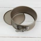 Форма для выпечки разъёмная «Рэнди. Круг», 12×7,5 см, антипригарное покрытие, цвет бронзовый - Фото 4