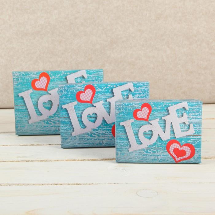 Набор коробок 3 в 1 Любовь, 15,5 х 11 х 8 - 11 х 8 х 5,5 см