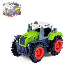 Трактор-перевёртыш «Хозяин фермы», работает от батареек, МИКС Ош